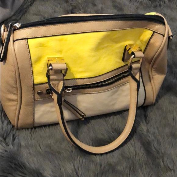 Call It Spring Handbags - Yellow and tan bag